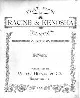 Title Page, Racine and Kenosha Counties 1899